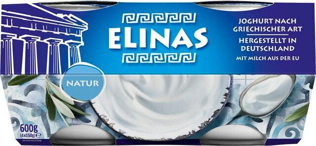 Elinas Joghurt Natur oder griechischer Fruchtjoghurt