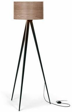 Stehleuchte »Dreibein« mit Holzschirm