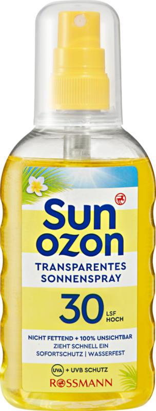 Spray solaire transparent IP 30 Sunozon, 200 ml