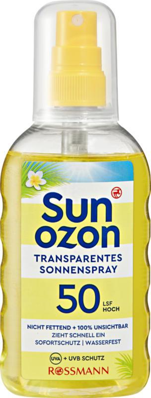 Spray solare trasparente FP 50 Sunozon, 200 ml