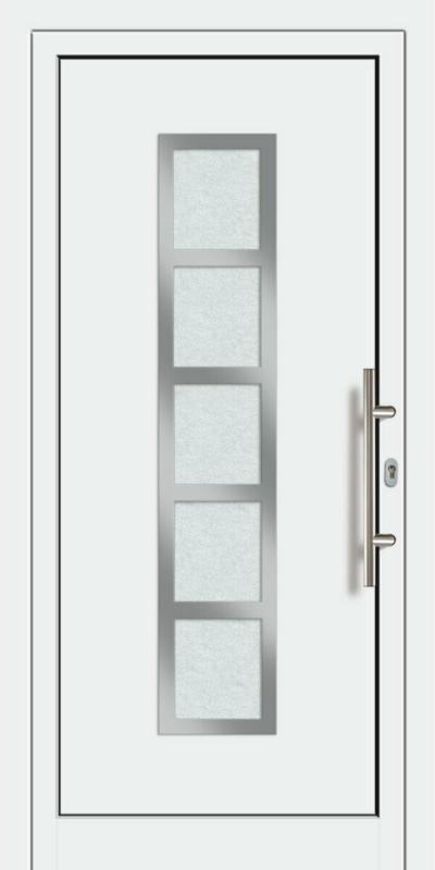 """Haustür Aluminium """"Modell 451"""" Außen: Weiß, Innen: Weiß"""