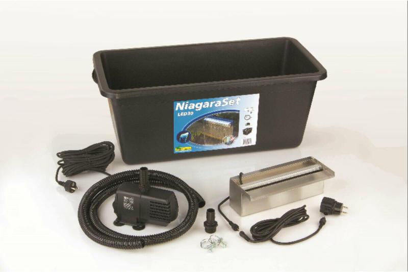 """Überlauf-Element-Set """"Niagara"""" inkl. Pumpe und LED-Beleuchtung, 30 cm"""