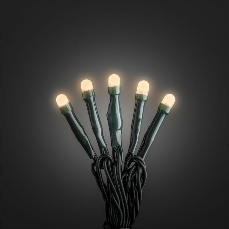 Micro LED Lichterkett gefrostet, 100 LEDs, warmweiß