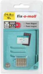 Magnet-Zylinder Neodym silber D4H8mm 10St