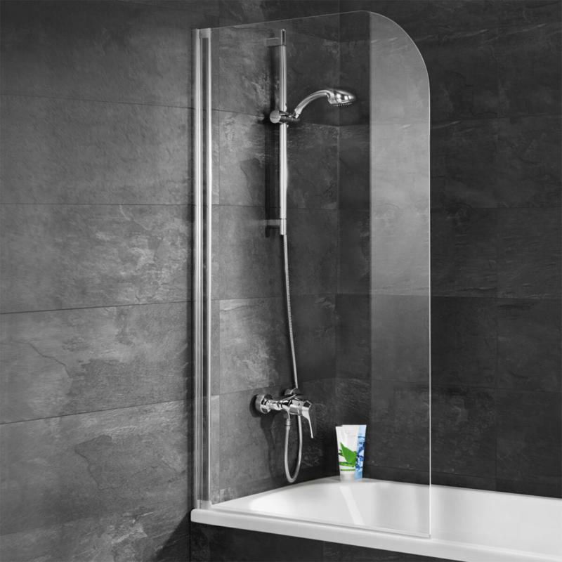 """Badewannenfaltwand """"Komfort"""", 140x80 cm, Echtglas, weiß"""