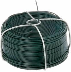 Drahtspule verzinkt-grün, 50 Meter, Stärke 1,2 mm