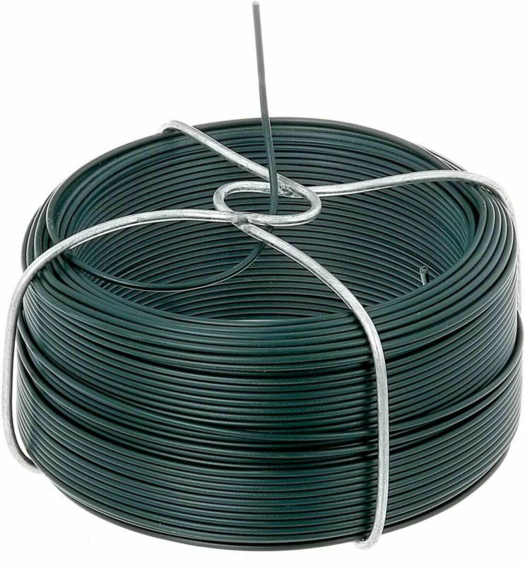 Drahtspule verzinkt-grün, 50 Meter, Stärke 1,4 mm