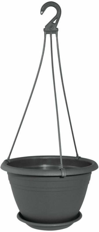 "Ampel ""Galicia"", ca. 30 cm, mit Untersetzer, grau"
