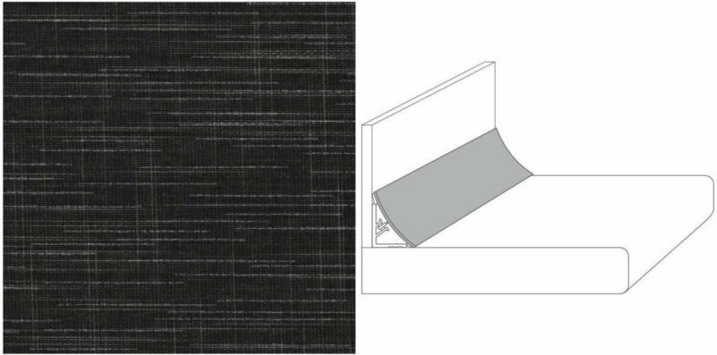 "Wandanschlussprofil Plus ""brown line"", 590x20x30 mm"