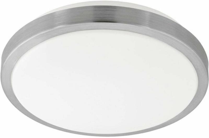 "LED-Deckenleuchte ""Competa"", 32,5x5,5cm, nickel-mattpeta"", 32,5 cm, nickel, rund nickel-matt | 32,5x5,5 cm"