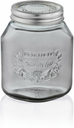 Einmachglas, 1 L, smoky grey