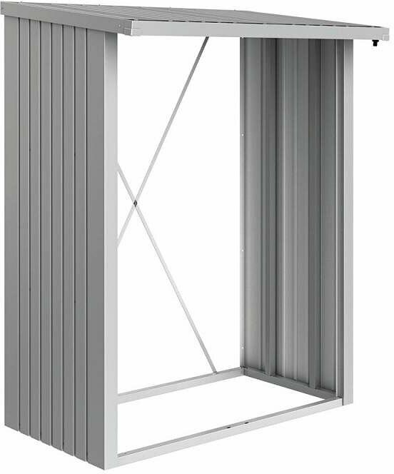 "Brennholzunterstand ""WoodStock 150"", silber-metallic"