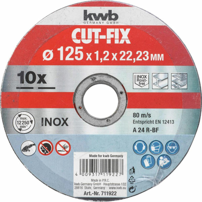 """Trennscheibe """"Cut-Fix"""", dünn, 125x1mm, 10 Stück 125 mm"""