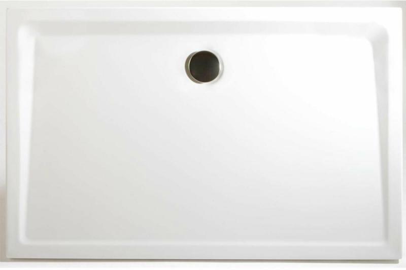 Duschwanne Rechteck extra-flach, 120x90, alpinweiß