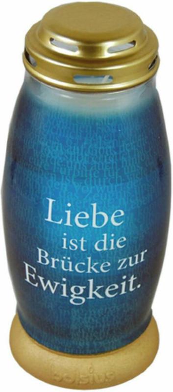 Effektlicht mit Text, 23 cm, blau