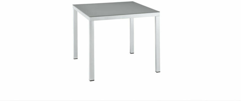 "Gartentisch ""Elemento"", 90x75x90 cm, Aluminium, silbermetallic"