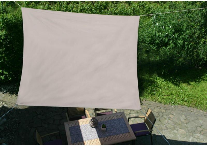 """Sonnensegel """"Taupe"""" Quadratisch 3,6 m"""