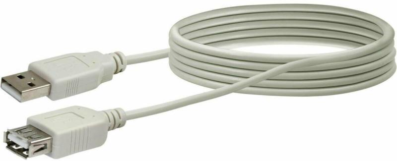 USB 2.0 Typ A Anschlusskabel, 2 m, weiß