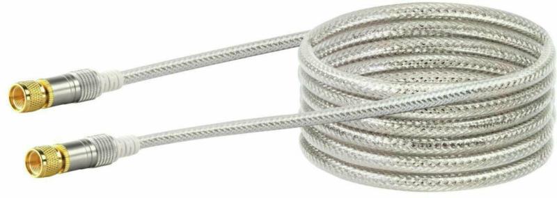 SAT-Antennenkabel, 110 dB, 3 m, transparent-white 3
