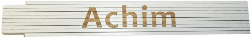 """Meterstab """"Achim"""", 2m, weiß Achim"""
