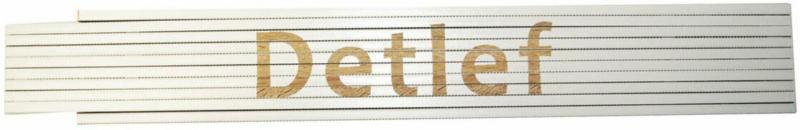"""Meterstab """"Detlef"""", 2m, weiß Detlef"""