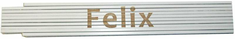 """Meterstab """"Felix"""", 2m, weiß Felix"""