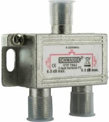 2-fach Universal-Verteiler, 6,5 dB, für Kabel/Antenne