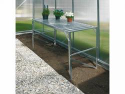 Aluminiumtisch + 1 Ablage für Gewächshaus
