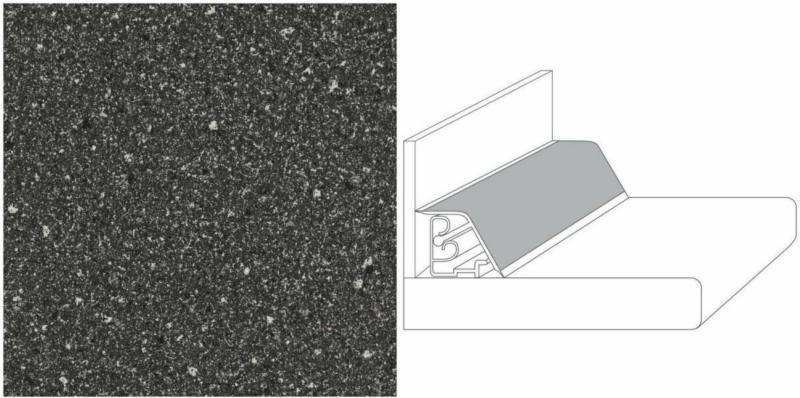 """Wandanschlusprofil DNP """"Stein China dunkel"""", 590x27x35 mm"""