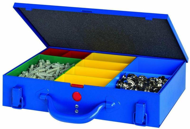 """Metallkoffer """"WK8"""", 9 Boxen, blau"""