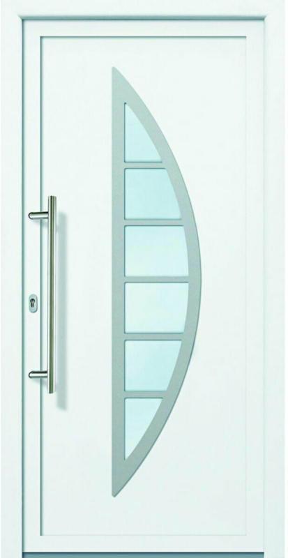 """Haustür """"JM Signum"""" PVC Mod. 28, weiß/weiß, Anschlag links, 98x200 cm Außen: Weiß, Innen: Weiß"""