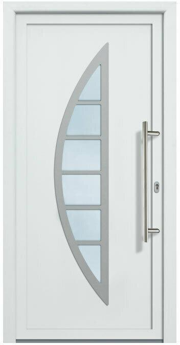"""Haustür """"JM Signum"""" PVC Mod. 28, weiß/weiß, Anschlag rechts, 98x200 cm Außen: Weiß, Innen: Weiß"""