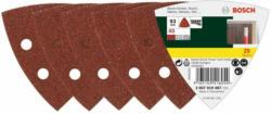 Deltaschleifblatt, Korund, K40, 9,3cm, 25 Stück K40