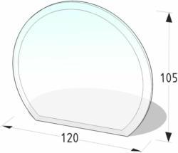 """Glasbodenplatte Halbrund """"120x105 cm"""""""