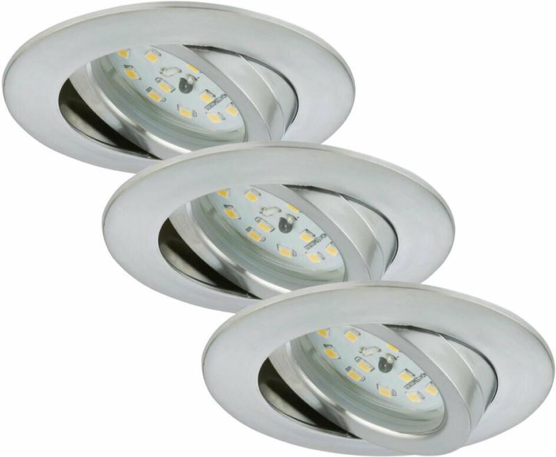 LED-Einbauleuchte, Aluminium, 3xLED
