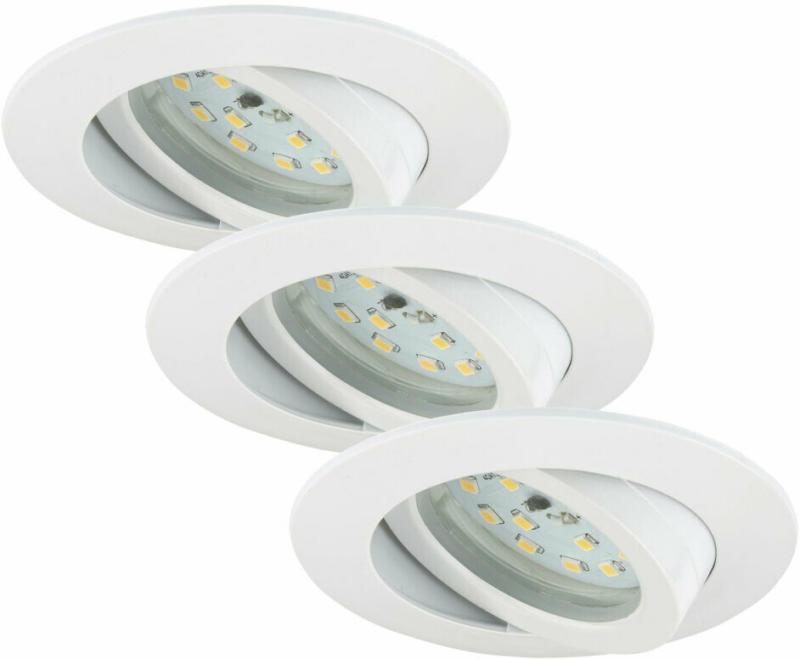 LED-Einbauleuchte, weiß, 3x5,5W, mit Gelenk