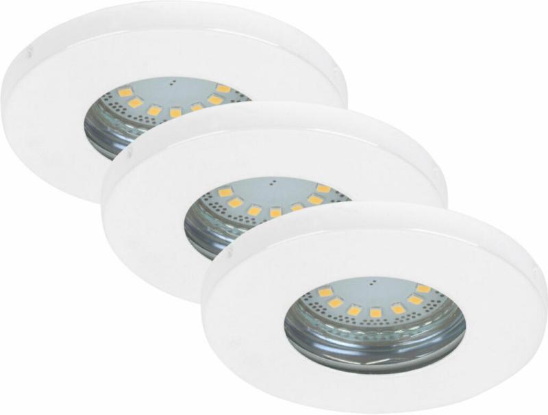 LED-Einbauleuchte, weiß, 3x5W