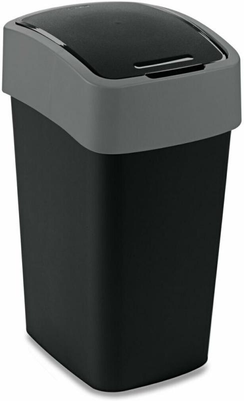 "Abfallbehälter ""Flip Bin"", 25 L, schwarz/hellgrau"