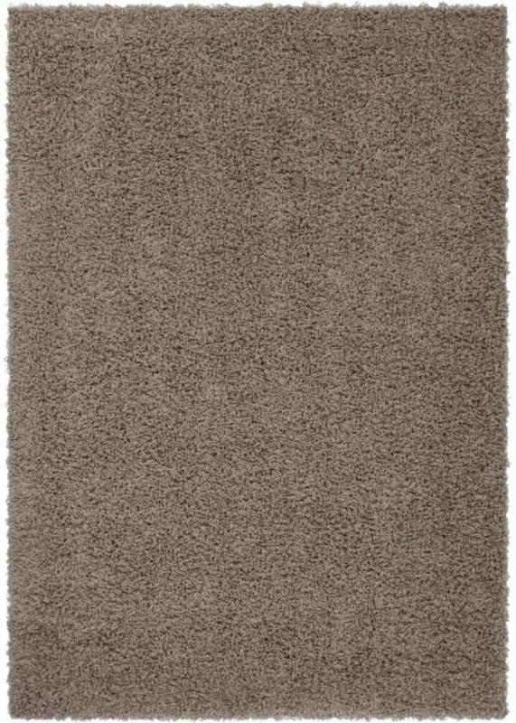 "Langflor-Teppich ""Norway"" - Oslo Hellbraun, 60x110cm 60x110 cm"