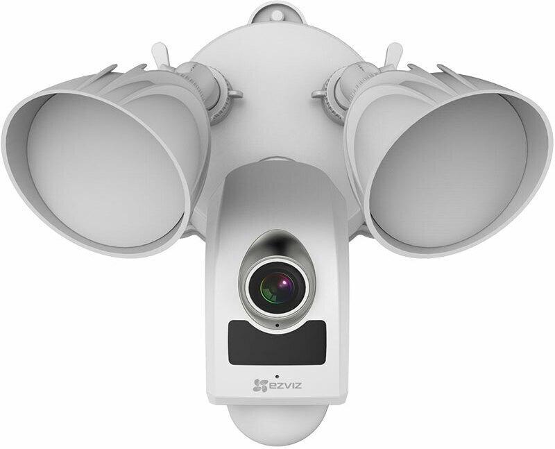LC1 Flutlicht Security Kamera, FHD Outdoor WiFi/LAN Kamera, Überwachungskamera