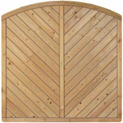"Zaunserie ""CLASSIC"", Bogen Diagonal, 180 x 180/160 cm 180 cm   180 cm"
