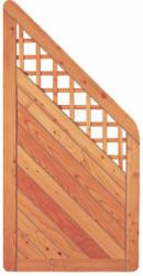 "Zaunserie ""SKAGEN"", Ecke, Lärche, 90x180/90 cm, Rahmen 45/90 mm 90 cm | 180 cm"