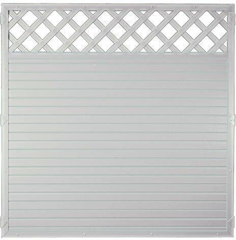 """Zaunserie """"LIGHTLINE"""", 180 x 180 cm, Rahmen weiß"""