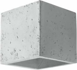 "Wandleuchte ""Quad"", Beton, grau grau | Beton"