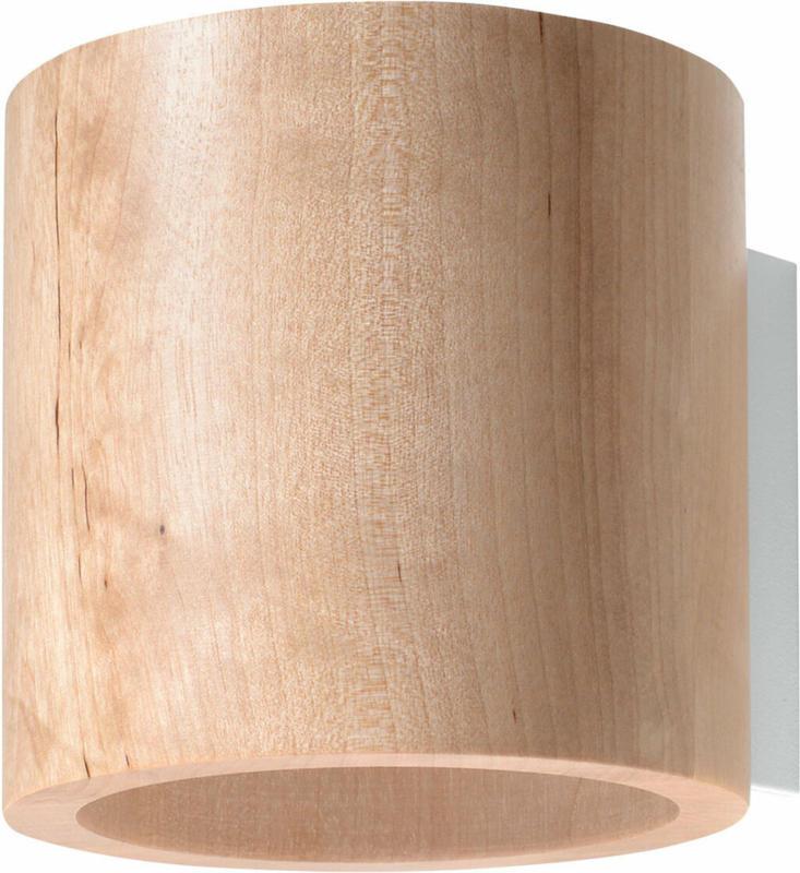 "Wandleuchte ""Orbis"", Holz, beige braun | Holz"