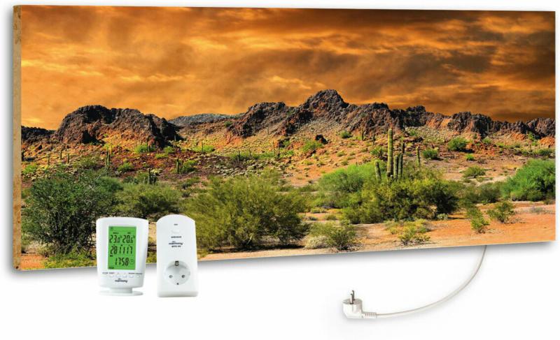 """Design-Heizkörper """"Adventure Rocks"""", mit Thermostat, 40x100 cm"""