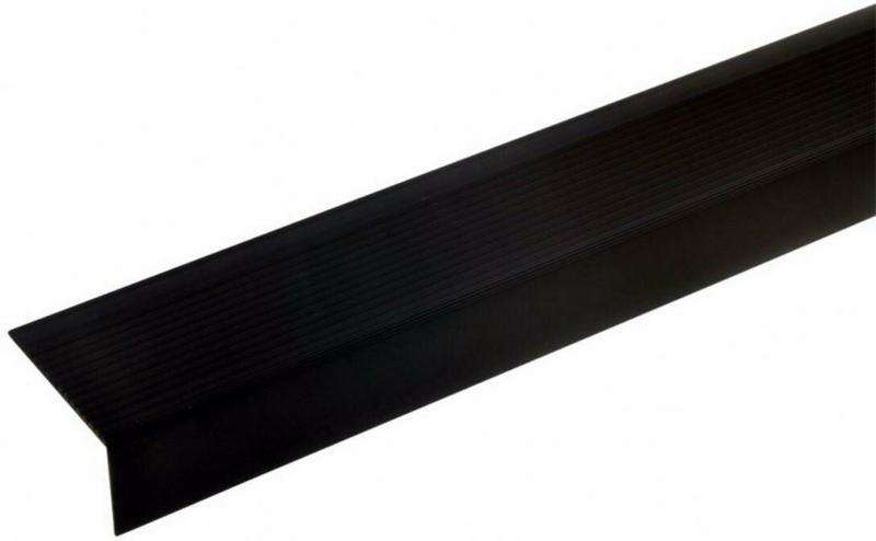 Alu-Treppenwinkel-Profil 28x50 mm, bronze dunkel, 100 cm