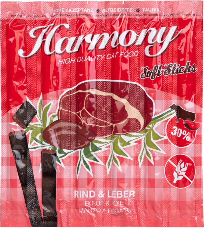 Harmony Cat Snack pour chats Soft Sticks Boeuf & Foie 30g