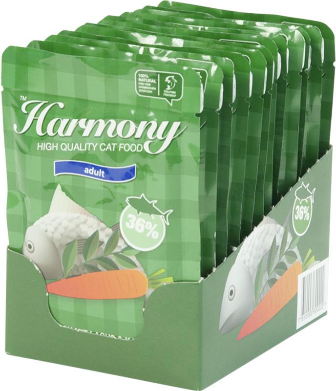 Harmony Cat Thunfisch mit Lachs & Karotten 12x80g