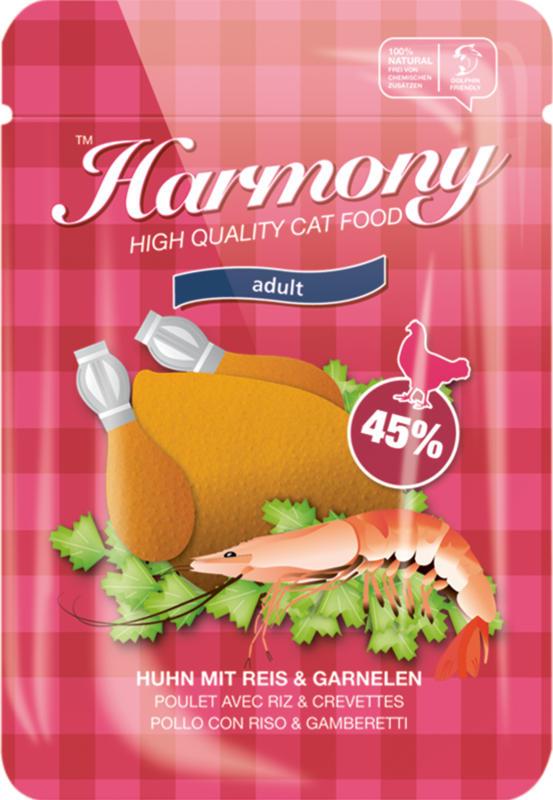 Harmony Cat Poulet avec Riz & Crevettes 80g